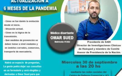 Charla: Covid-19. Actualización a 6 meses de la pandemia